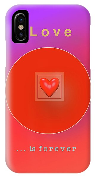 iPhone Case - Love Is Forever by Jack Eadon