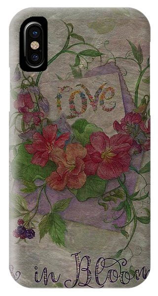 Love Is In Bloom Botanical IPhone Case