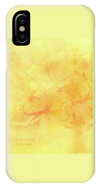 Love Is Patient Love Is Kind IPhone Case