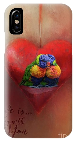 Love Is...being With You IPhone Case