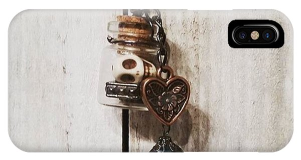Steampunk iPhone Case - 'love Jitters' 💘💀#vial #pendant by Katie McCrary