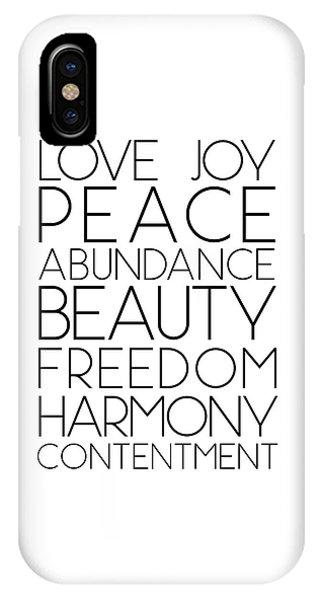 Love Joy Peace Beauty Virtues IPhone Case