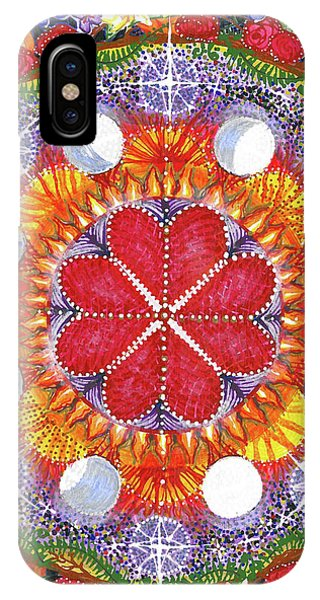 IPhone Case featuring the painting because Love Lasts for Eternity #1 by Kym Nicolas