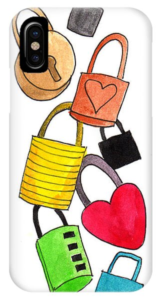 Love Locks Of Paris Bridges IPhone Case