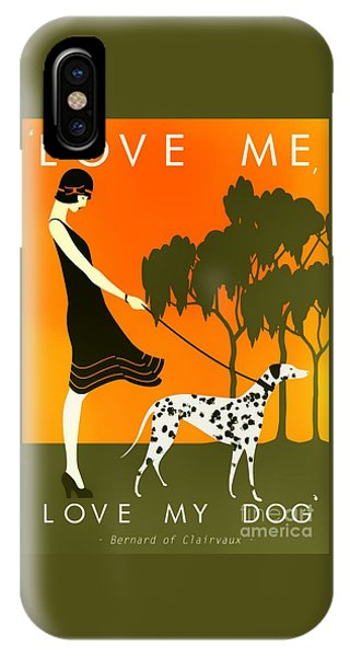 Love Me Love My Dog - 1920s Art Deco Poster IPhone Case