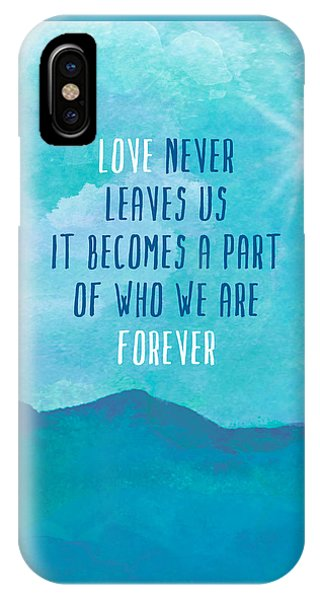 Love Never Leaves IPhone Case
