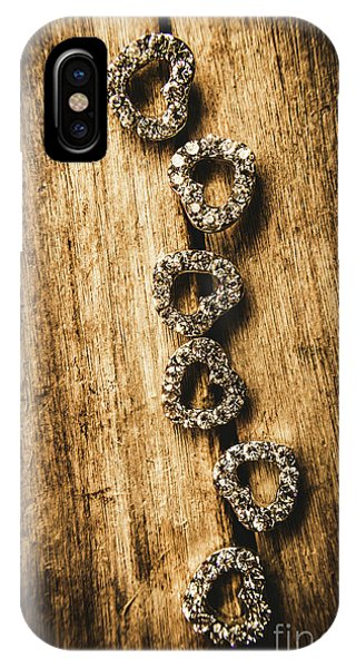 Romantic Background iPhone Case - Love Of Rustic Jewellery by Jorgo Photography - Wall Art Gallery