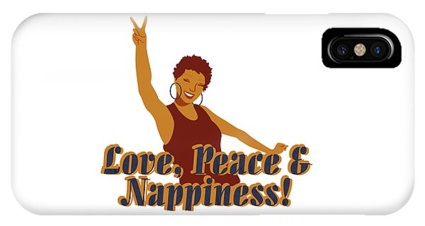 Love Peace And Nappiness IPhone Case