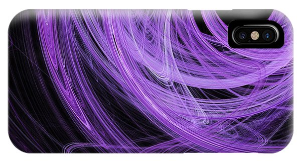 Julia Fractal iPhone X Case - Love Swirls . Square . A120423.689 by Wingsdomain Art and Photography