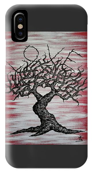 IPhone Case featuring the drawing Love Tree Art by Aaron Bombalicki