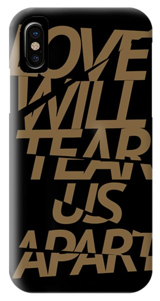 New Trend iPhone Case - Love Will Tear Us Apart #gold by Art Popop
