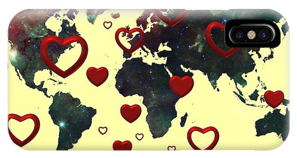 Love World Map 2 IPhone Case