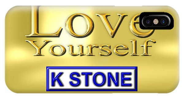 iPhone Case - Love Yourself by K STONE UK Music Producer