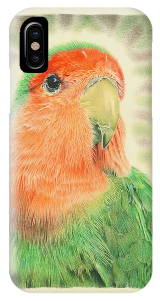 Coloured Pencil iPhone Case - Lovebird Pilaf by Remrov