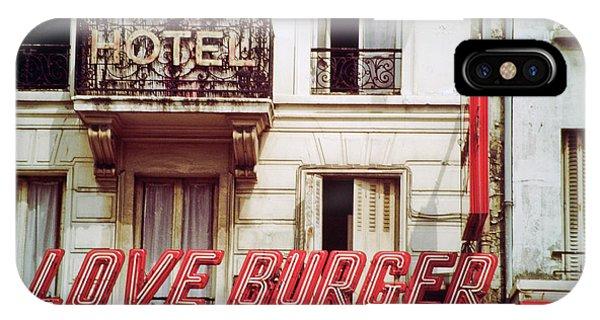 Loveburger Hotel IPhone Case