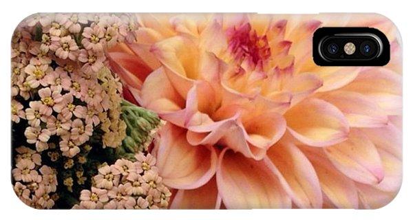 Flower iPhone Case - Dahlia Flower Bouquet by Blenda Studio