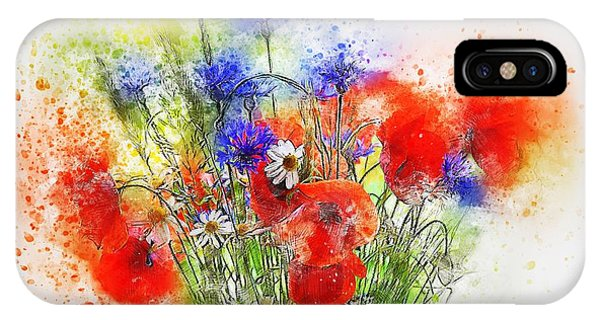 Watercolour Bouquet IPhone Case