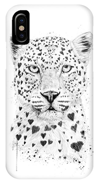 Funny iPhone Case - Lovely Leopard by Balazs Solti