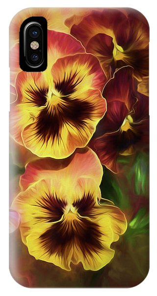 Lovely Spring Pansies IPhone Case