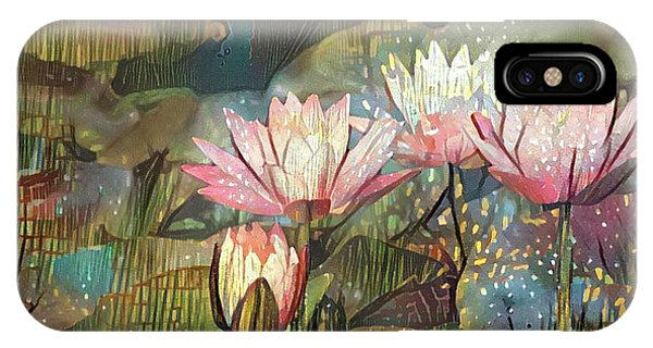Lovely Waterlilies 7 IPhone Case