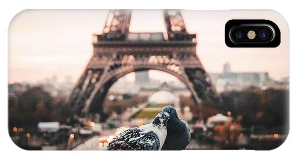 Paris iPhone Case - Lover Doves In Paris by Fbmovercrafts