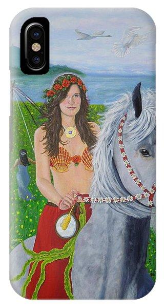 Lover / Virgin Goddess Rhiannon - Beltane IPhone Case