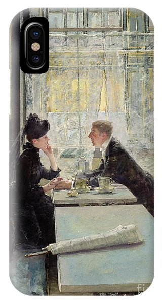 Lovers In A Cafe IPhone Case