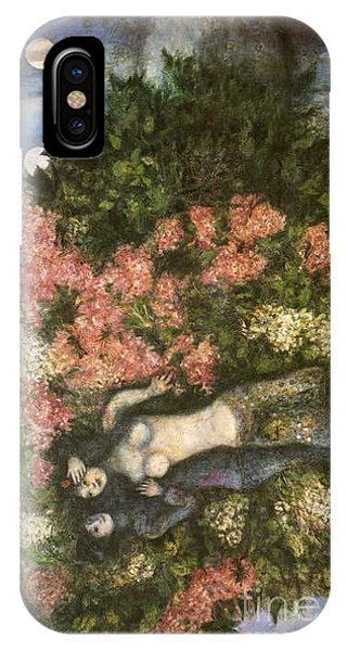 Lovers In The Lilacs IPhone Case