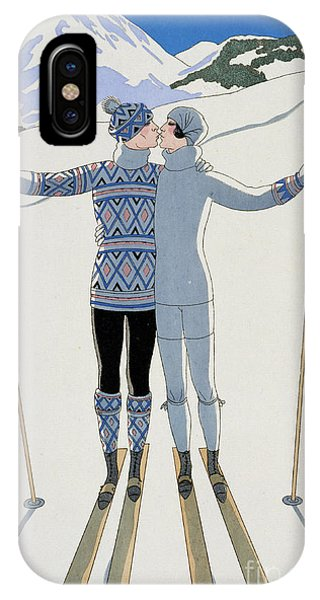Ice iPhone Case - Lovers In The Snow by Georges Barbier