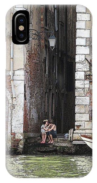 Lovers In Venice IPhone Case