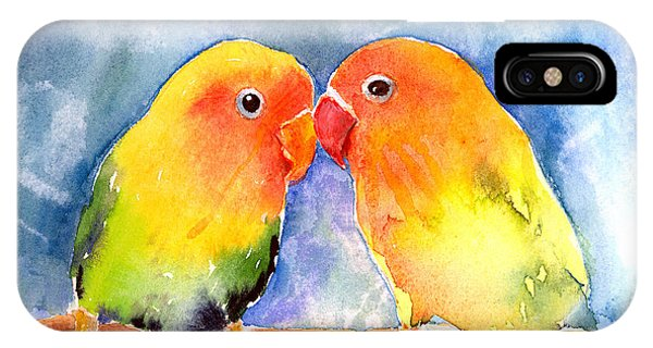 Lovey Dovey Lovebirds IPhone Case