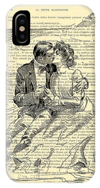 Cupid iPhone Case - Loving Couple By The Sea by Madame Memento