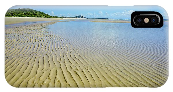 Low Tide Beach Ripples IPhone Case
