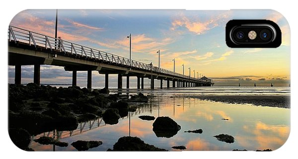 Low Tide Reflections At The Pier  IPhone Case
