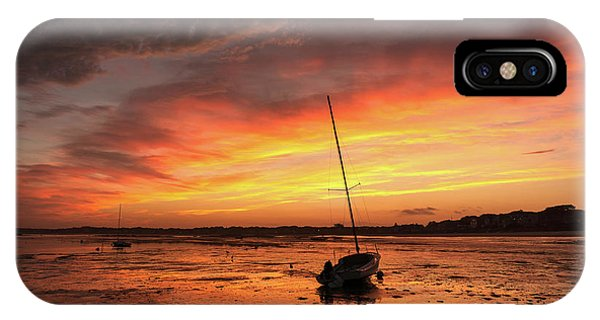 Low Tide Sunset Sailboats IPhone Case