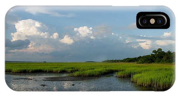 Tidal Marsh iPhone Case - Low Tide by Suzanne Gaff