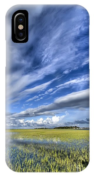 Flooded iPhone Case - Lowcountry Flood Tide And Clouds by Dustin K Ryan
