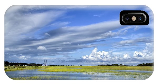 Flooded iPhone Case - Lowcountry Flood Tide II by Dustin K Ryan