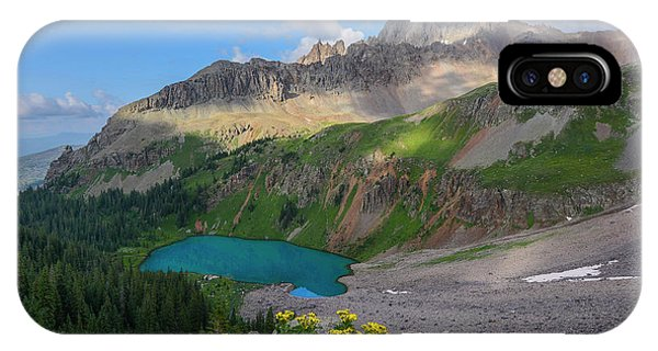 Lower Blue Lake And Mt. Sneffels Phone Case by Aaron Spong