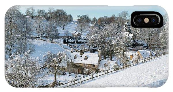 English Village iPhone Case - Lower Dean In Winter by Tim Gainey