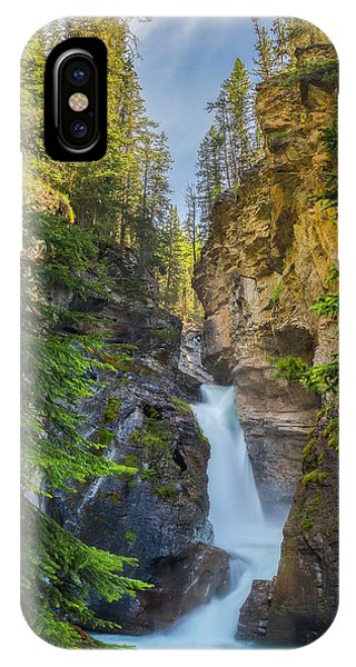 IPhone Case featuring the photograph Lower Falls At Johnston Canyon by Owen Weber