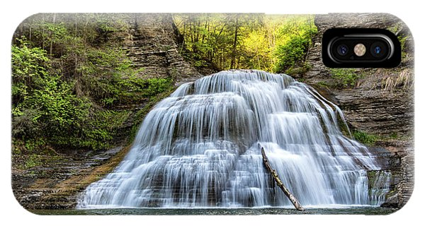 New Leaf iPhone Case - Lower Falls At Treman State Park by Stephen Stookey
