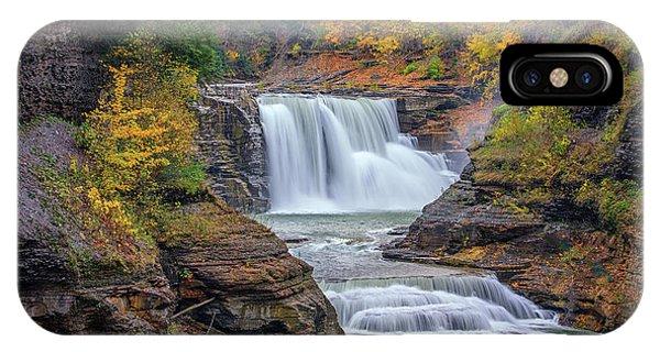 Lower Falls In Autumn IPhone Case