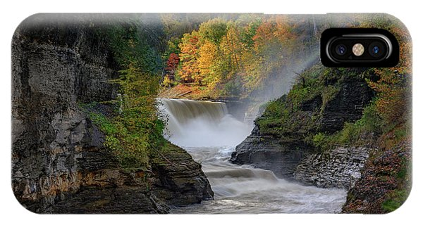 Lower Falls Of The Genesee River IPhone Case