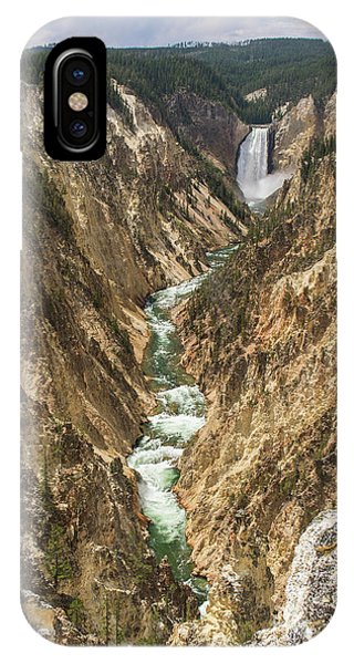 Lower Falls Of The Yellowstone - Portrait IPhone Case