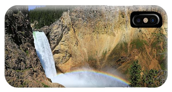 Lower Falls With A Rainbow IPhone Case