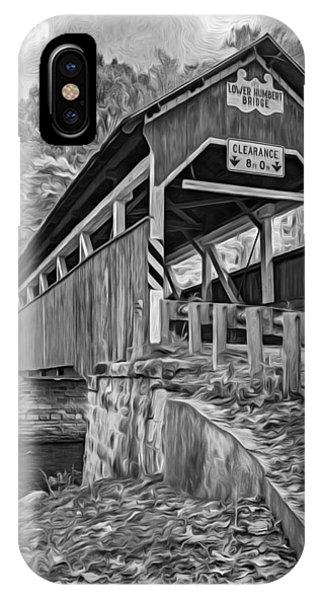Somerset County iPhone Case - Lower Humbert Covered Bridge 2 - Paint Bw by Steve Harrington