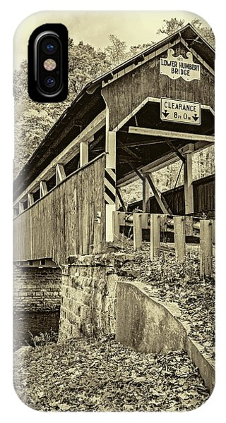 Somerset County iPhone Case - Lower Humbert Covered Bridge 2 - Sepia by Steve Harrington