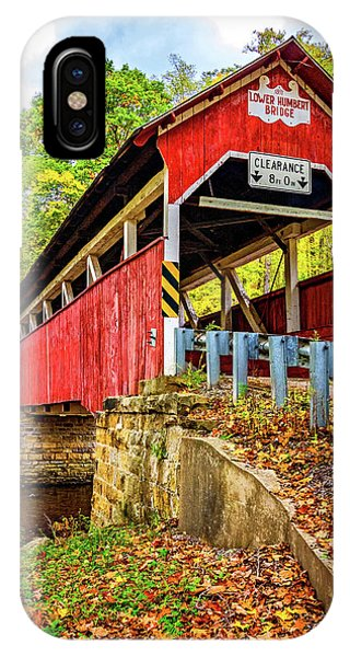 Somerset County iPhone Case - Lower Humbert Covered Bridge 2 by Steve Harrington