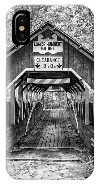 Somerset County iPhone Case - Lower Humbert Covered Bridge 5 Bw by Steve Harrington